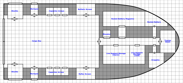 final plan for deck 1 with labels on the rooms