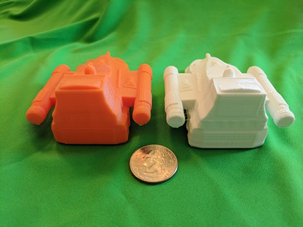Back of the two ships one printed at 0.1mm
