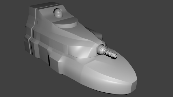 Smoothed model of the second try.