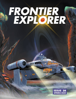 Cover of Frontier Explorer issue 28 featuring a hovercraft.